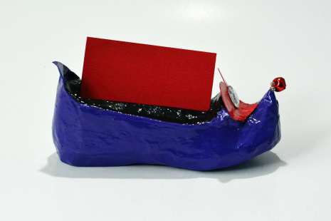 Elf shoe with business cards shown