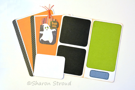 Halloween Boo To You Folio Tags and Mats