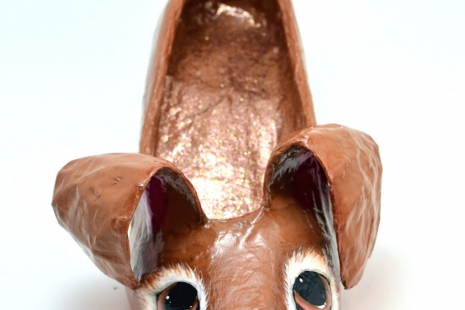 Easter Bunny Shoe Sculpture - Front view