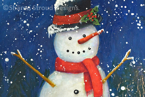 Happy Snowman Closeup