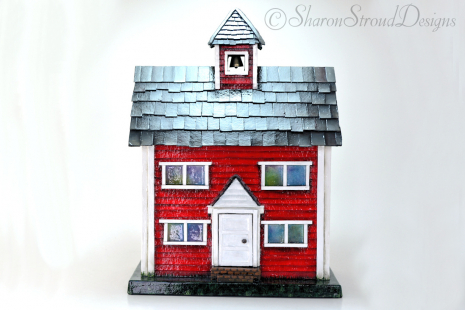 Little Red School House Box Front