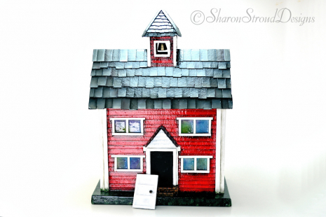 Little Red School House With Door Open