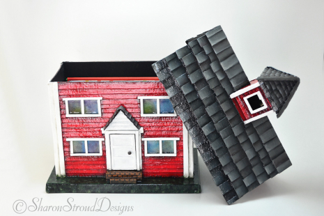 Little Red School House With Lid Off