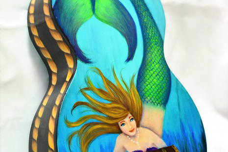 Painted Mermaid Ukulele- Back