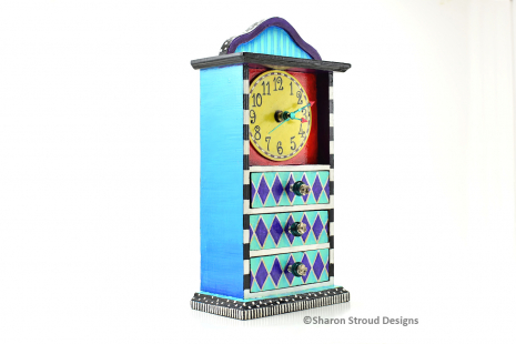 Whimsical Trinket Clock Box - Left Side