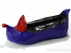 Purple elf shoe with red heart detail - altered mixed media shoe