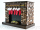 Brown Stone Fireplace Right Side