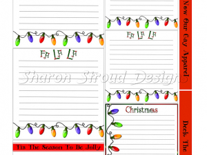 Deck The Halls Journal Cards