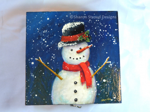 Happy Snowman Box - Top