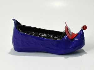Purple Elf Shoe Business Card Holder, Custom Designed, One Of A Kind
