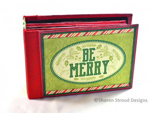 Be Merry 5x7 Mini Scrapbook Album