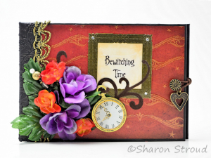 Bewitching Time Premade Interactive 5x7 Mini Scrapbook Album
