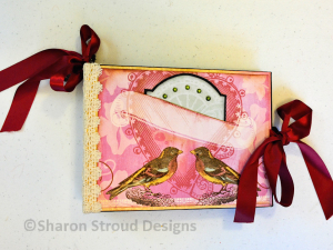 Ciao Bella Birds 8x6 Mini Scrapbook Album