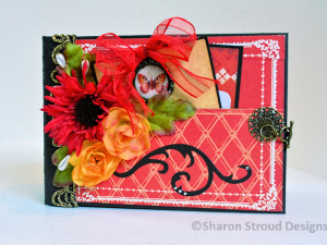 Floral Ciao Bella 5x7 Mini Scrapbook Album
