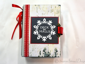 Deck The Halls 5x7 Mini Scrapbook Album
