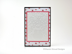 Happy Snowman 5x7 Folio Mini Scrapbook Album