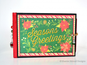 Traditional Seasons Greetings Christmas 5x7 Mini Scrapbook Album