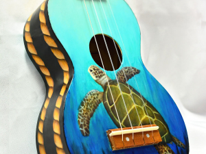 "Custom Painted Soprano Ukulele ""Treasure"""