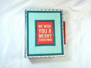 We Wish You A Merry Christmas Interactive 5x7 Mini Scrapbook Album